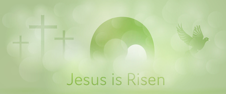 Easter design green background.