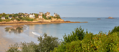 French landscape - Bretagne. View over the beach of Dinard. Banque d'images