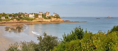 Paysage français - Bretagne. Vue sur la plage de Dinard. Banque d'images