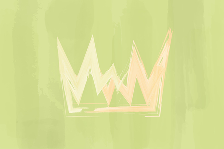 Christian worship and praise. Crown with watercolor splashes. Vecteurs