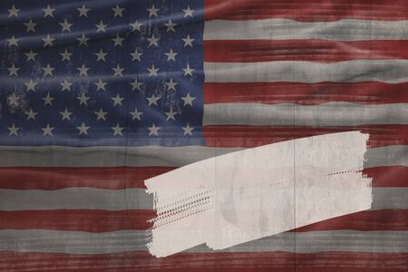 American National Holiday. Background with American flag and national colors. Copy space.