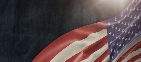 American National Holiday. US Flag background with American stars, stripes and national colors. Copy space. Stock fotó