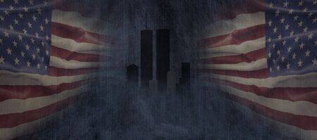American National Holiday. US Flag background with American stars, stripes and national colors. Stock fotó