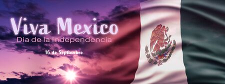 Mexican National Holiday Mexican Flag Background With National