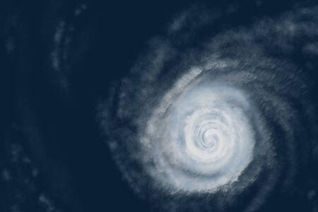 Weather illustration. Hurricane warning. Tropical storm.