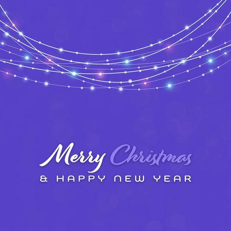 Christmas time. Light illustration. Background. Text: Merry Christmas & HAPPY NEW YEAR Zdjęcie Seryjne