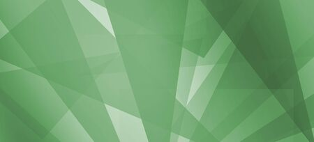 Abstract background. Intersecting lines and polygons in green colors.
