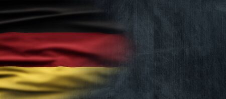 Germany National Holiday. German flag with dark background and national colors. Unification. Zdjęcie Seryjne