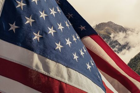 American National Holiday. US Flag background with American stars, stripes and national colors. Reklamní fotografie