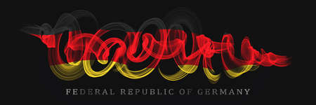 German National Holiday. German Flag with stripes and national colors. Unification. Memorial Day. Banner. Federal Republic of Germany. Archivio Fotografico