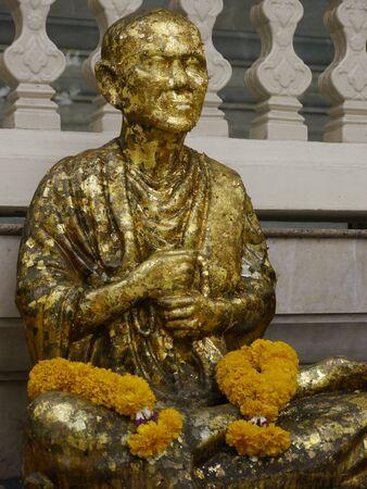 A Monk Statue at Golden Mountain Stock Photo - 9218809