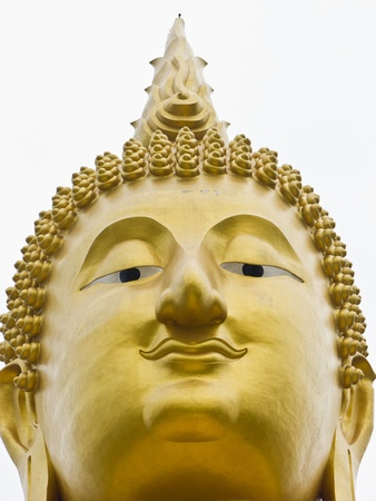 Face of Buddha Statue Close up Stock Photo - 9519980