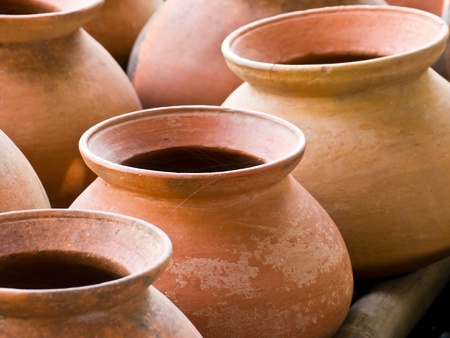 clay craft: Clay pot