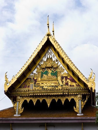 Art of Thai temple roof in Benchamabophit temple