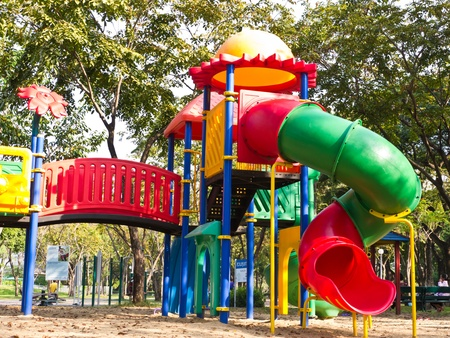 Colorful tube in children playground