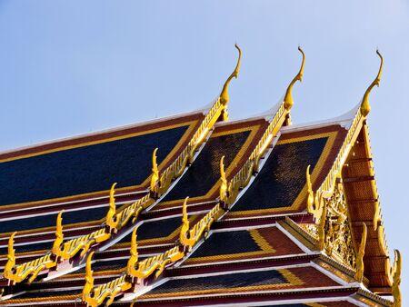 gable: Gable on Thai temple roof Stock Photo