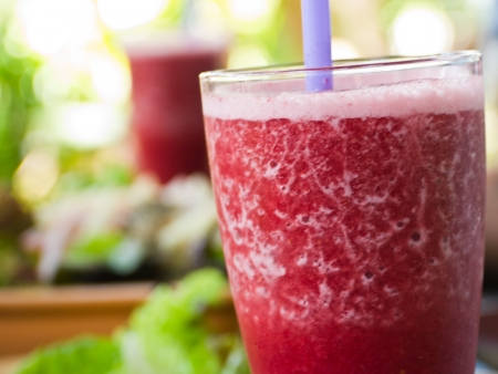 Mixed berry juice, healthy drink photo