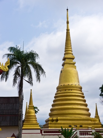 Golden pagoda in Thailand Stock Photo - 12767796