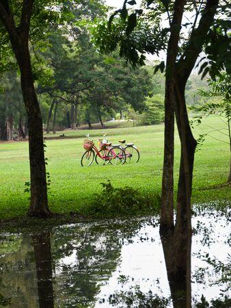 Recreation in public park in Bangkok Stock Photo