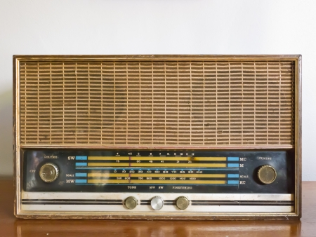 Antique radio photo