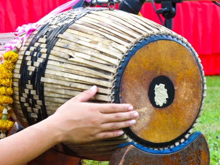 thai musical instrument: Thai musical instrument, Gong Stock Photo