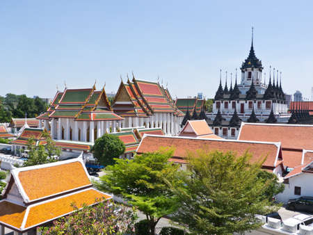 matallic: Loha Prasat, Buddhist temple landmark in Bangkok