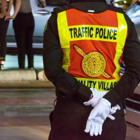 Thai traffic police on duty
