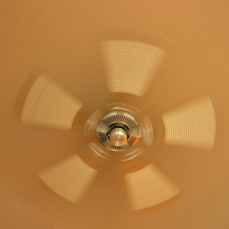 ceiling fan: Ceiling fan motor, retro style