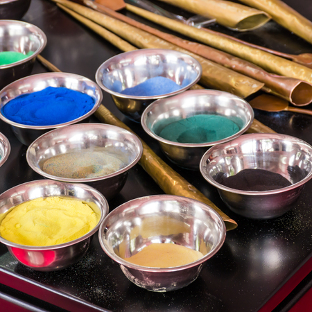 Tool for making Sand mandala Stock Photo