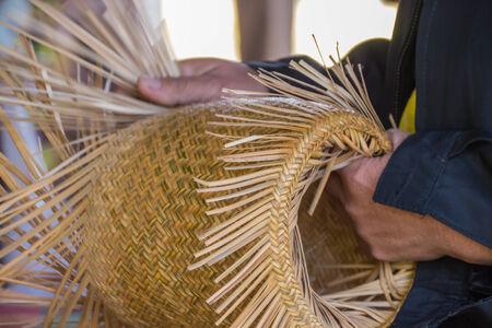 wickerwork: Wickerwork or Basketry, handmade by local Thai people Stock Photo