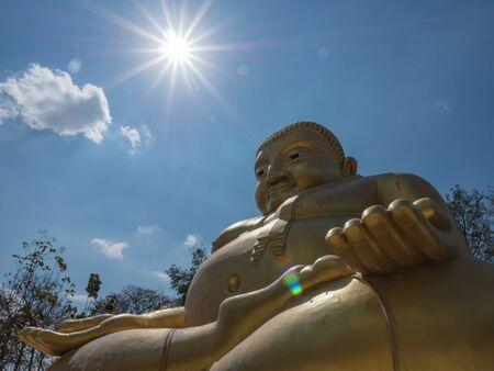 gautama buddha: Gautama Buddha or Katyayana or Kasennen with sun ray in the background