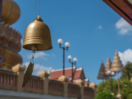 bell shaped: Small bell in Buddhist temple