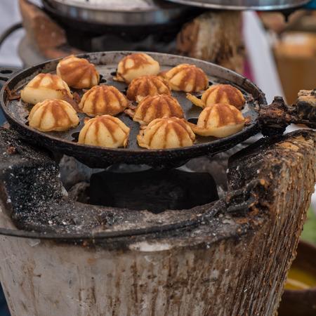 sweetmeat: Candy eggs, Thai sweetmeat in market