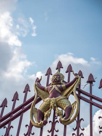 garuda: The garuda on Buddhist temple fence