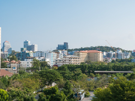 Pattaya city, travel landmark of Thailand Stock Photo