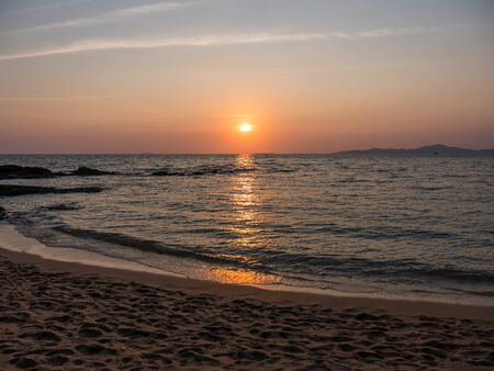 Sunset at Pattaya beach, Thailand