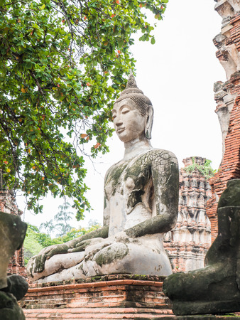 Wat Mahathat, ruined ancient Buddhist temple in Ayutthaya, Thailand Stock Photo