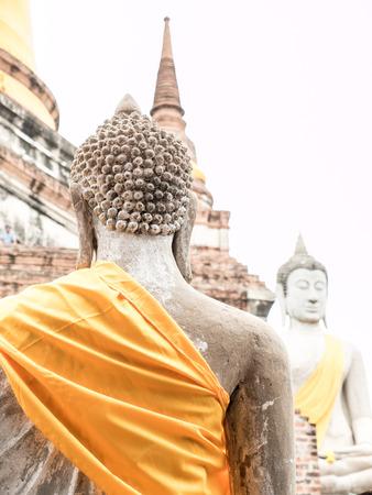 Wat Yai Chai Mongkol, ruined ancient Buddhist temple in Ayutthaya, Thailand Stock Photo