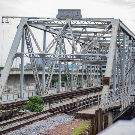 Old railway bridge, Rama VI, in Bangkok Thailand