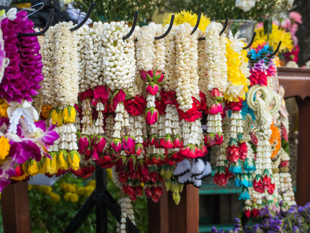 Lei of flowers for worship