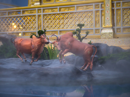 Cow-like mythical creatures of Himvanta around The Royal crematorium