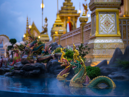 Naga mythical creatures of Himvanta around The Royal crematorium