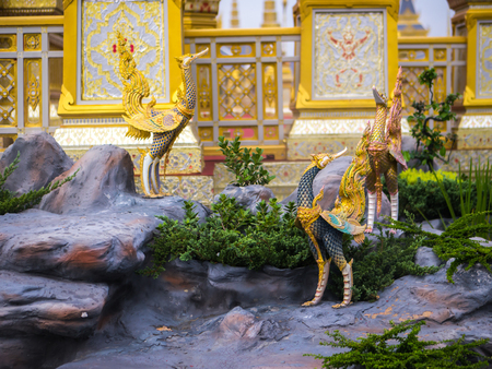 Swan-like mythical creatures of Himvanta around The Royal crematorium Editöryel