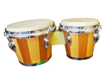 Bongo Drums isolated on a white background