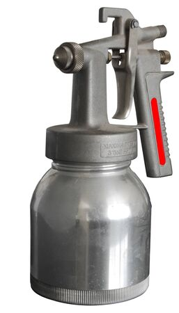 A Paint Spray Gun operated by compressed air Isolated on a white background Stock Photo - 13125339