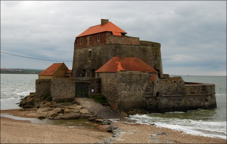 17th century fort at Amnbleteuse Northern France Built by Vauban for Louis XIV