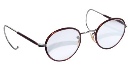 A pair of wire framed tortoiseshell trimmed spectacles from the 1950