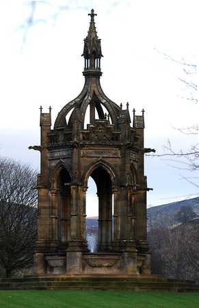 El Cavendish Memorial Fountain en el Bolton Abbey Estate.