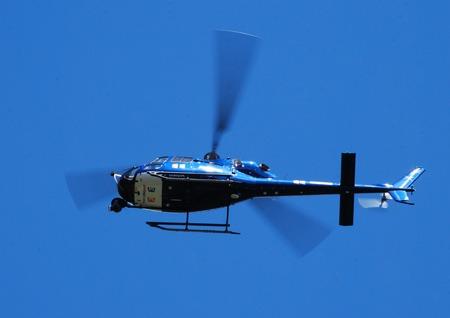 joie: lkley West Yorkshire UK Samstag, 5. Juni 2014 Ein franz�sisch Hubschrauber deckt die Tour de France Gro� Abfahrt von Yorkshire.