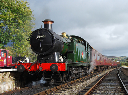 19th October 2016.Recently restored engine GWR 0-6-2T prepares to leave Bolton Abbey station for Embsay on the Embsay and Bolton Abbey Steam Railway. Editorial